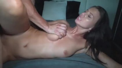 Hot wife meets lover in the bed giving fuck pussy