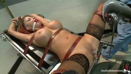 In the office of the surgeon titted lady forcefully fucked in holes